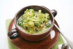 Σούπα μπρόκολου στοκ εικόνα