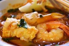 Σούπα νουντλς θαλασσινών του Tom Yum Στοκ Εικόνα