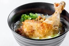 Σούπα νουντλς κοτόπουλου Στοκ εικόνα με δικαίωμα ελεύθερης χρήσης