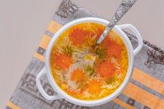 Σούπα νουντλς Στοκ Εικόνα