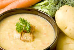 σούπα πατατών καρότων β Στοκ εικόνες με δικαίωμα ελεύθερης χρήσης