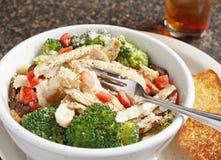σούπα πιάτων κοτόπουλου του Alfredo στοκ φωτογραφία με δικαίωμα ελεύθερης χρήσης