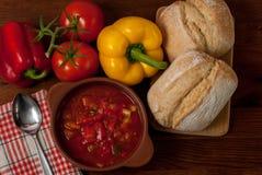 Σούπα πιπεριών Στοκ Εικόνες