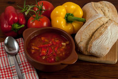 Σούπα πιπεριών Στοκ εικόνες με δικαίωμα ελεύθερης χρήσης