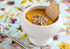 σούπα πουρέ χορτοφάγος Στοκ εικόνα με δικαίωμα ελεύθερης χρήσης