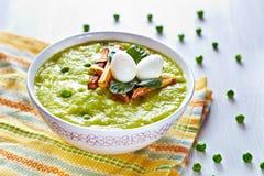 σούπα πράσινων μπιζελιών μπρόκολου Στοκ Εικόνες