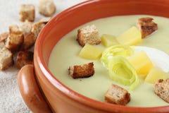 Σούπα πράσων και πατατών Στοκ Εικόνα