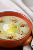 Σούπα πράσων και πατατών Στοκ Φωτογραφία