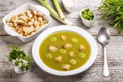 Σούπα πράσων και πατατών Στοκ εικόνα με δικαίωμα ελεύθερης χρήσης