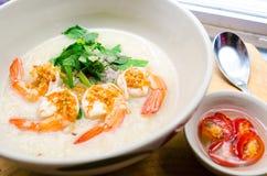 Σούπα ρυζιού γαρίδων Στοκ Εικόνες