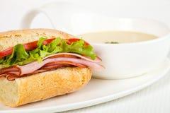σούπα σάντουιτς γευμάτων Στοκ φωτογραφίες με δικαίωμα ελεύθερης χρήσης