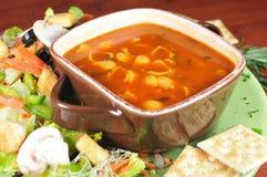 σούπα σαλάτας Στοκ φωτογραφία με δικαίωμα ελεύθερης χρήσης