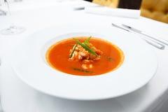 Σούπα σκόρδου με τις γαρίδες Στοκ φωτογραφία με δικαίωμα ελεύθερης χρήσης