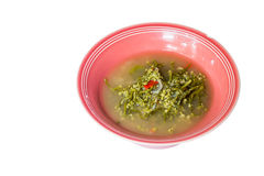 Σούπα σπανακιού της Κεϋλάνης Στοκ φωτογραφίες με δικαίωμα ελεύθερης χρήσης