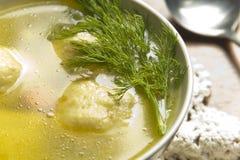Σούπα σφαιρών Matzoh Στοκ Φωτογραφία