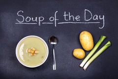 Σούπα της ημέρας Στοκ φωτογραφία με δικαίωμα ελεύθερης χρήσης