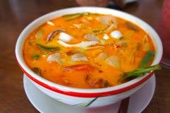 Σούπα του Tom Yum, ταϊλανδικά τρόφιμα Στοκ Εικόνες