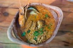 Σούπα του Tom Yum Goong στοκ εικόνα με δικαίωμα ελεύθερης χρήσης