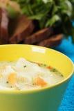 σούπα τυριών ψωμιού στοκ εικόνες με δικαίωμα ελεύθερης χρήσης