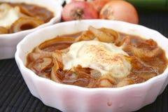 Σούπα των κρεμμυδιών με το τυρί Στοκ Εικόνα