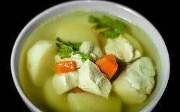 Σούπα χοιρινού κρέατος και πατατών Στοκ Φωτογραφία