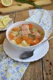 Σούπα ψαριών (πέστροφα) στοκ εικόνα με δικαίωμα ελεύθερης χρήσης