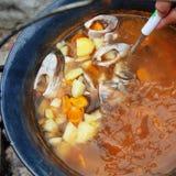 Σούπα ψαριών στοκ φωτογραφίες