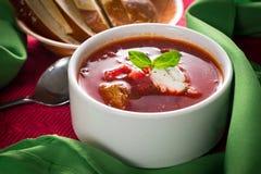 Σούπα Borscht Στοκ Εικόνες