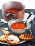 Σούπα Gazpacho ντοματών Στοκ Εικόνες