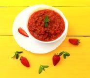 Σούπα Gazpacho Στοκ φωτογραφίες με δικαίωμα ελεύθερης χρήσης