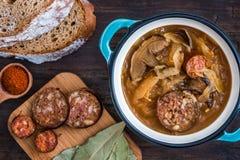 Σούπα Kapustnica λάχανων Στοκ Φωτογραφία