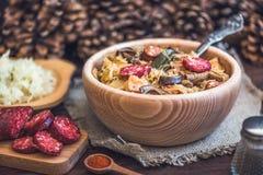 Σούπα Kapustnica λάχανων Στοκ Εικόνα