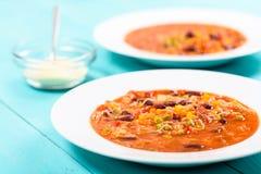 Σούπα Minestrone με το τυρί παρμεζάνας Στοκ Φωτογραφία