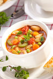 σούπα minestrone Στοκ φωτογραφία με δικαίωμα ελεύθερης χρήσης