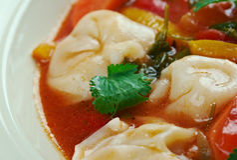 Σούπα Minestrone Tortellini Στοκ Εικόνες