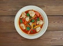 Σούπα Minestrone Tortellini Στοκ φωτογραφία με δικαίωμα ελεύθερης χρήσης