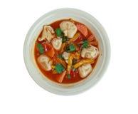 Σούπα Minestrone Tortellini Στοκ Φωτογραφίες