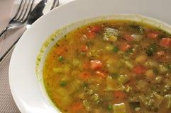 Σούπα pesto Minestrone Στοκ Φωτογραφίες