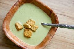 σούπα poblano τσίλι Στοκ εικόνα με δικαίωμα ελεύθερης χρήσης