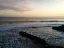 Σούρουπο Καλιφόρνια του Cruz Santa Στοκ φωτογραφία με δικαίωμα ελεύθερης χρήσης
