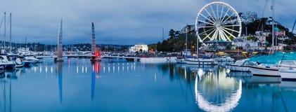 Σούρουπο σε Torquay Devon Αγγλία Στοκ φωτογραφίες με δικαίωμα ελεύθερης χρήσης