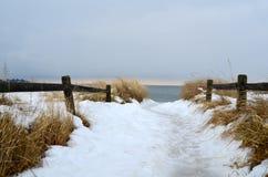 Σούρουπο στην παραλία Μαίην σημείου πεύκων Στοκ Φωτογραφίες