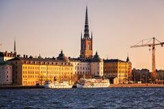 Σούρουπο της Στοκχόλμης Riddarholmen Στοκ Εικόνες