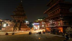 Σούρουπο Bhaktapur στο νύχτα-σφάλμα cinemagraph, Νεπάλ απόθεμα βίντεο
