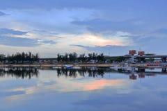 Σούρουπο Longzhouchi (λίμνη δράκων), κωμόπολη jimei, amoy πόλη, Κίνα Στοκ Εικόνες