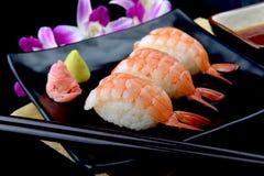 Σούσια γαρίδων ή ιαπωνικά σούσια ebi Στοκ εικόνες με δικαίωμα ελεύθερης χρήσης