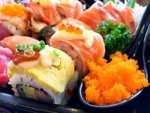 Σούσια καθορισμένα - ιαπωνικά τρόφιμα Στοκ Φωτογραφίες