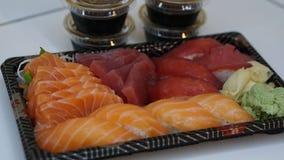 Σούσια και sashimi στοκ φωτογραφία