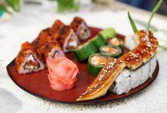σούσια πιάτων maki Στοκ φωτογραφία με δικαίωμα ελεύθερης χρήσης