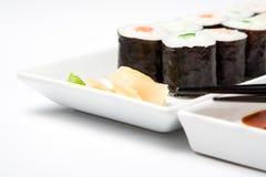 σούσια πιάτων maki Στοκ Εικόνα